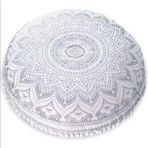 Boho Mandala floor pillow cover w/ cushion insert